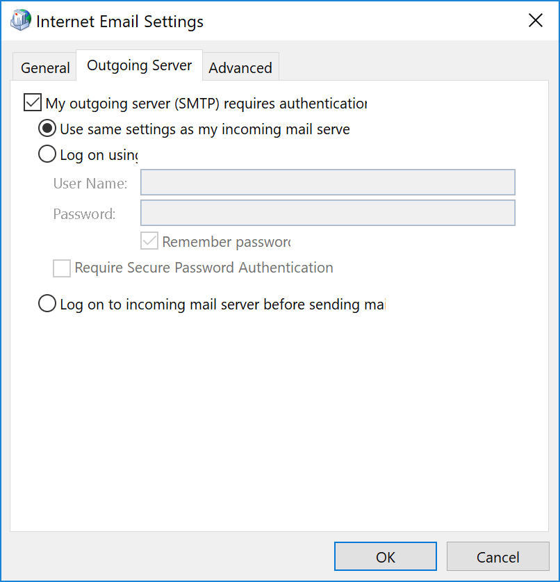 To Resolve The Issue You Simply Need Check Checkbox Next My Server Requires Authentication In Your Email Clients Settings
